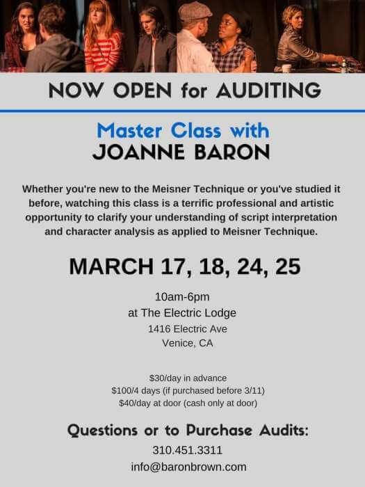 joanne baron masterclass info.